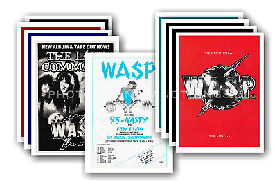 W.A.S.P. - 10 promotional posters  collectable postcard set # 1