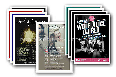 WOLF ALICE - 10 promotional posters  collectable postcard set # 1
