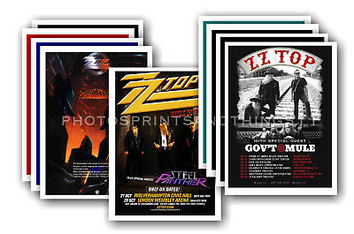ZZ TOP - 10 promotional posters  collectable postcard set # 1