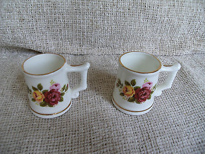 Sutherland Bone China Pair Of Miniature Tankards Made In England
