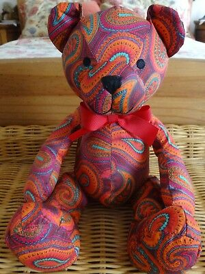 "Crabtree & Evelyn Teddy Bear Sits approx 9"" Tall"