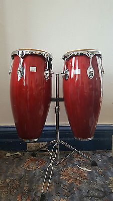 Performance Percussion Conga Drum Pair Inc. Stand PP CO NG A1