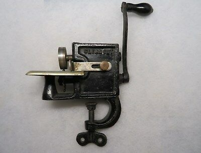 Antique Clean Cut Hand Crank Crimper Pleater Pleating Pinking Machine