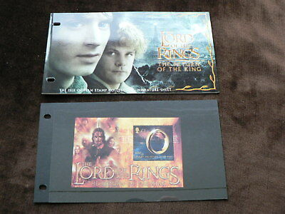 2003 Isle of Man Presentation Pack, Lord of the Rings £2 m/s, LOTR,  MNH, Mint