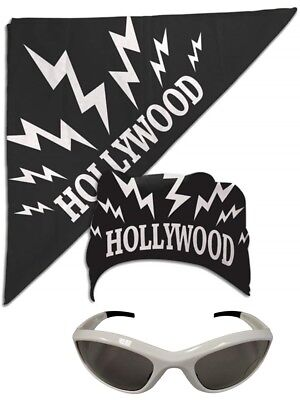 Hollywood Hulk Hogan nWo Bandana White Sunglasses Costume