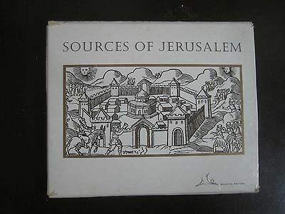 SOURCES OF JERUSALEM: 5 X BOOKLETS IN A FOLDER,217pp,ENGLISH,ISRAEL 1995.cs2216