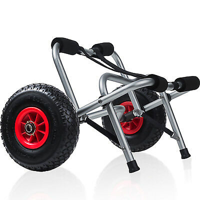 Kayak Dolly Boat Canoe Trolley Tote Towing Cart Transport Carrier with Wheels