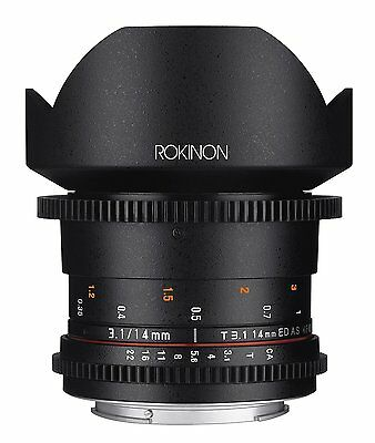Rokinon Cine DS 14mm T3.1 ED AS IF UMC Full Frame Cine Lens f/ Canon EF- DS14M-C