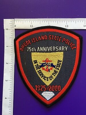 Rhode Island State  Police 75Th Anniversary  Shoulder  Patch