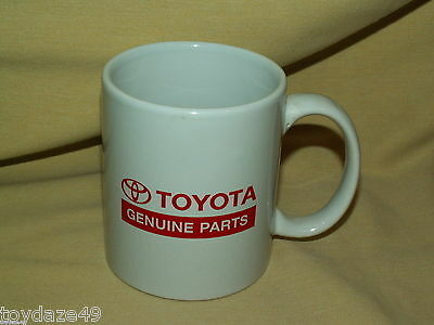 Toyota Mug Genuine Parts Cup Car Advertising Dealer Promo White Red Norwood