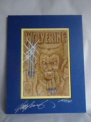 Wolverine #1 Cover Art Burned On Buckskin By Cave-Geek  Signed By C Claremont