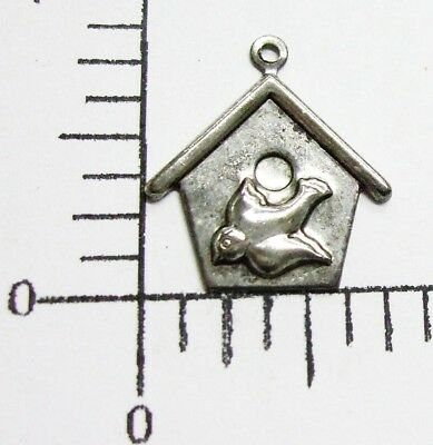 35862       12 Pc. Antique Silver Victorian Birdhouse Jewelry Finding Charm SALE