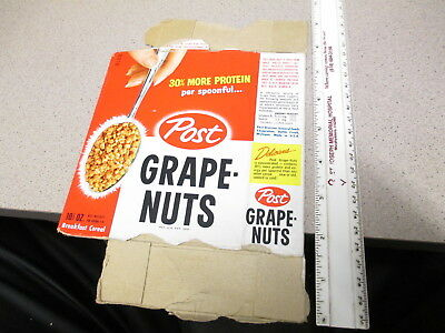 cereal box POST 1950s GRAPE NUTS flower planter set
