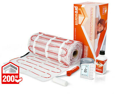 ProWarm underfloor heating 200w mat kit - All sizes in this listing