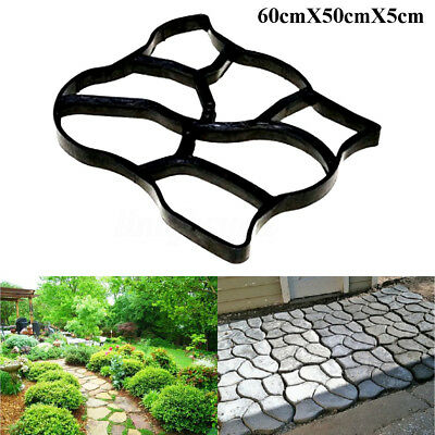 Paving Pavement Mold Patio Concrete Garden Walk Maker Stepping Stone Mould DIY