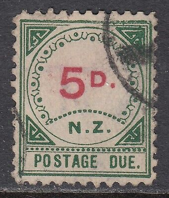 NEW ZEALAND 1899 5d POSTAGE DUE, USED, catalogued £50
