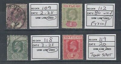 FIJI 1903-06 KEVII (x4) DIFFERENT MINT/USED (ID:209/D47880)