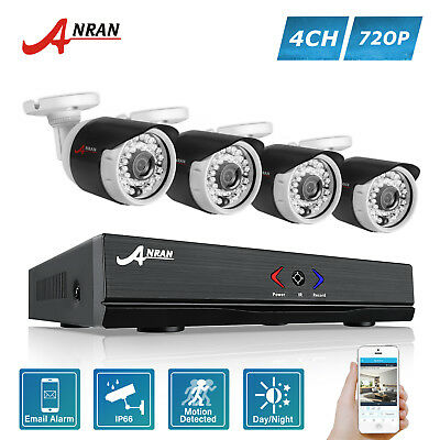 ANRAN AHD 4CH 720P HDMI DVR Home Security CCTV Camera System Outdoor IP66 Kit