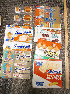 Wrapper sample (30) 1950s Bond Bunny Sunbeam Holsum bread pizza crackers cookies