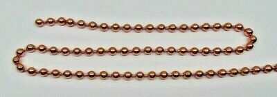 Solid COPPER BALL #13 CHAIN 6.3mm bead ~ Various Bulk Lengths + Connectors