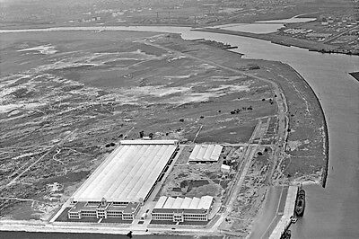 FISHERMANS BEND HOLDEN CAR FACTORY 2nd view 1936 Aerial modern Digital Postcard