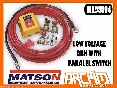 Matson Ma98504 - Low Voltage Dbk With Paralel Switch - Dual Battery Kit