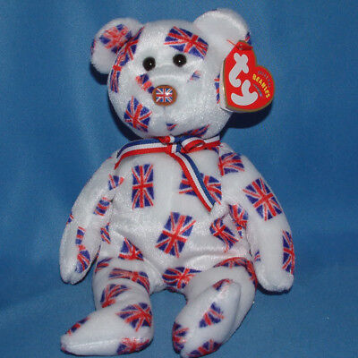 Ty Beanie Baby Jack flag nose - MWMT (Bear UK Country Exclusive 2003)