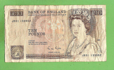 Great Britain  Circulated  Ten Pound Banknote, 1988-1991  Issue