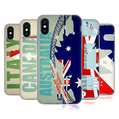 HEAD CASE DESIGNS FLAGS AND LANDMARKS SOFT GEL CASE FOR APPLE iPHONE PHONES