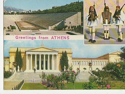 Greetings From Athens Greece 1981 Postcard 0823