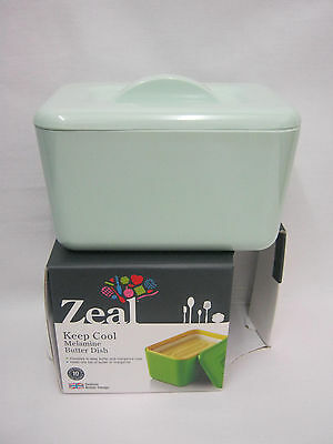 New Zeal Melamine Butter Margarine Spread Dish G265 Pale Mint Green