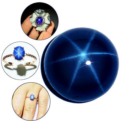 Natural Blue Star Sapphire Round Cabochon Loose Stone 6 Rays 5mm/6mm