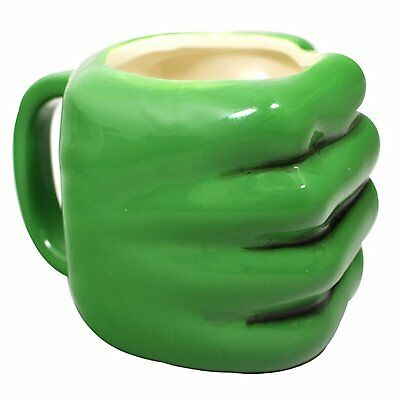 The Hulk Shaped Fist Hand Marvel Comics 3D Large Coffee Mug Cup Gift Boxed