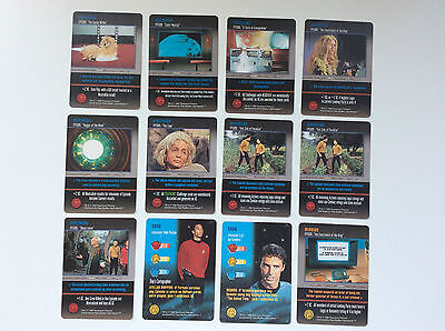 12 x STAR TREK TRADE CARDS.   THE CARD GAME.  1996