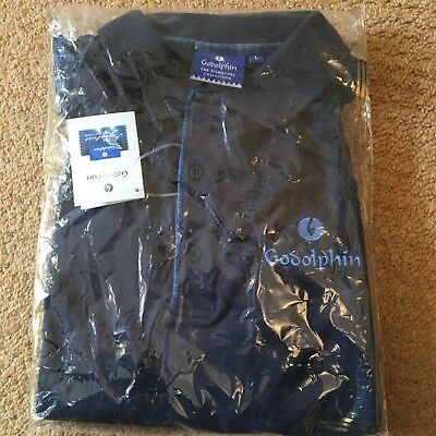 Horse Racing Godolphin Blue Polo Shirt SIZE L 48 Inch Chest NWT