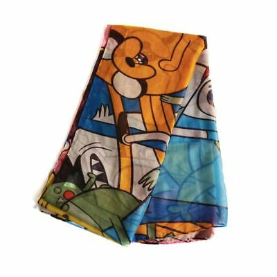 Official Cartoon Network Adventure Time Characters All Over Print Fashion Scarf