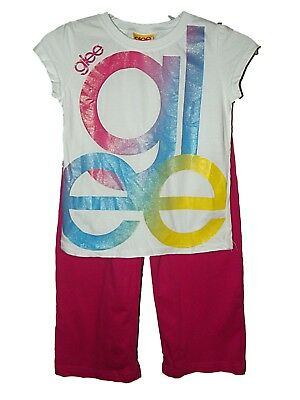 NEW GIRLS OFFICIAL GLEE LONG PYJAMAS PJ's 4/5 yrs XS CHRISTMAS NIGHTWEAR