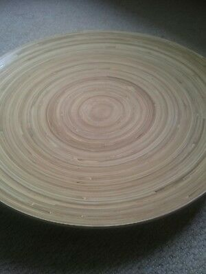 large bamboo platters x 2 new