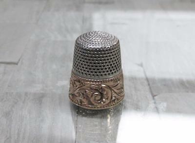 Sterling Silver with 14KT Overlay Vintage #8 Thimble ~ 5.5 grams ~ 6-G316