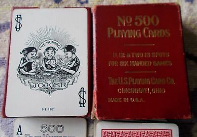 """ANTIQUE PLAYING CARDS  """"No 500""""  Russell Morgan Factories  62+J"""