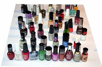 50 x Assorted Branded Nail Polish | RRP £160+ | Inc Revlon, Sally Hansen, Rimmel