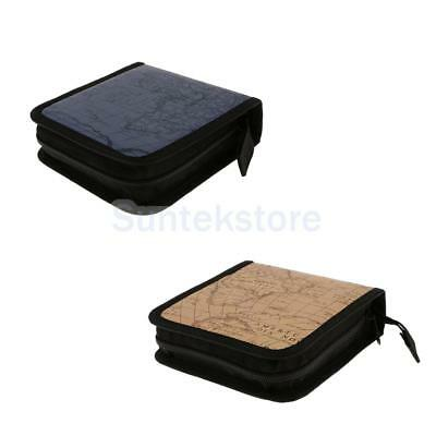 2x 40 CD DVD Disc Organizer Storage Cover Carry Case Holder Box Bag