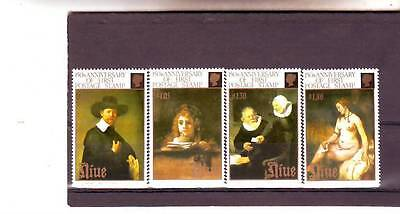 a109 - NIUE - SG693-696 MNH 1990 REMBRANDT PAINTINGS