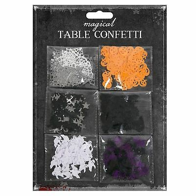 Halloween Table Confetti Pumpkin Ghost Witch Bats Spider Web Party Decorations