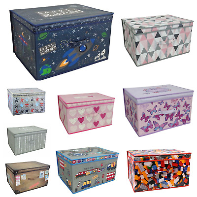 Large Collapsible Jumbo Storage Box Folding Storage Chest Kids Room Tidy Toy Box
