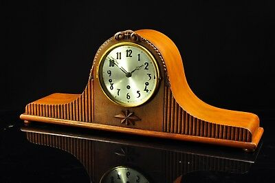 "Vintage 1930` DUFA Mantel Clock Westminster Chime ""Superb Chime"""