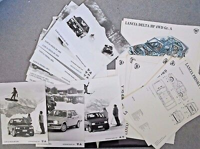 Lancia Delta HF 4WD Y10 4WD Prisma 4WD Large Press Pack Photograph x 10