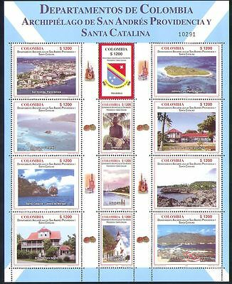 Colombia 2006 Regions/Trees/Church/Art/Islands/Nature/Buildings 12v sht (n34916)