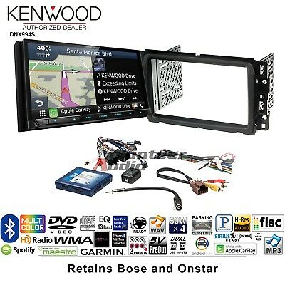 KENWOOD EXCELON DNX994S DDIN DVD CD Player Install Kit Navigation Apple  CarPlay