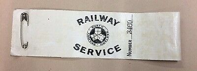 Ww1 Railways Armband Original Early Issue Low Number 3460.